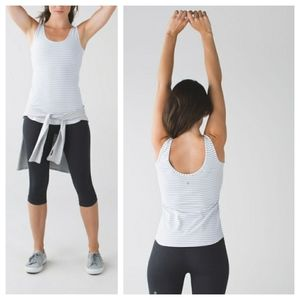 Lululemon Straight Up Tank Classic Stripe